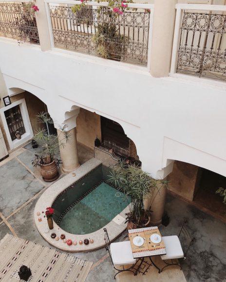 The patio of Riad Dar Ten